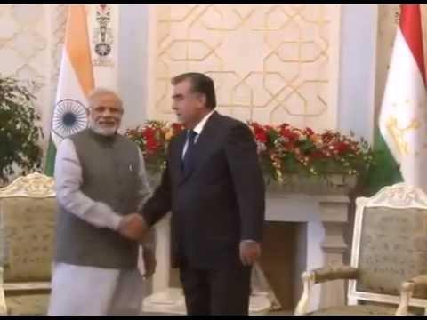 PM Modi meets President Emomali Rahmon of Tajikistan