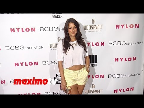Angelique Cabral NYLON & BCBGeneration Young Hollywood Party Red Carpet