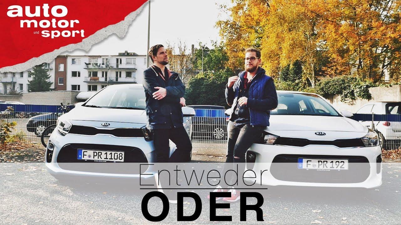 Kia Rio vs. Kia Picanto   Entweder ODER   (Vergleich/Review) auto ...