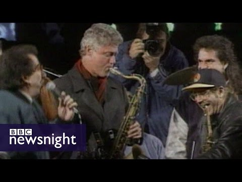 Bill Clinton's 1992 US presidential election campaign - BBC Newsnight archives