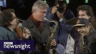 bill clinton s 1992 us presidential election campaign bbc newsnight archives