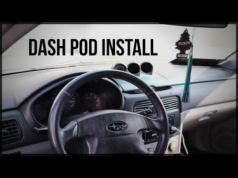 Dash Pod And Gauge Install 04-05 Forester