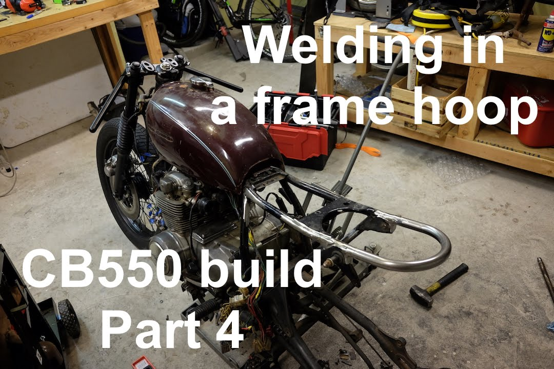How To Build A Cb550 Cafe Racer Brat Part 4 Welding In A Frame