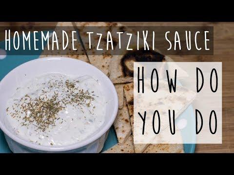 How to Make Tzatziki Sauce || Cucumber Sauce Recipe