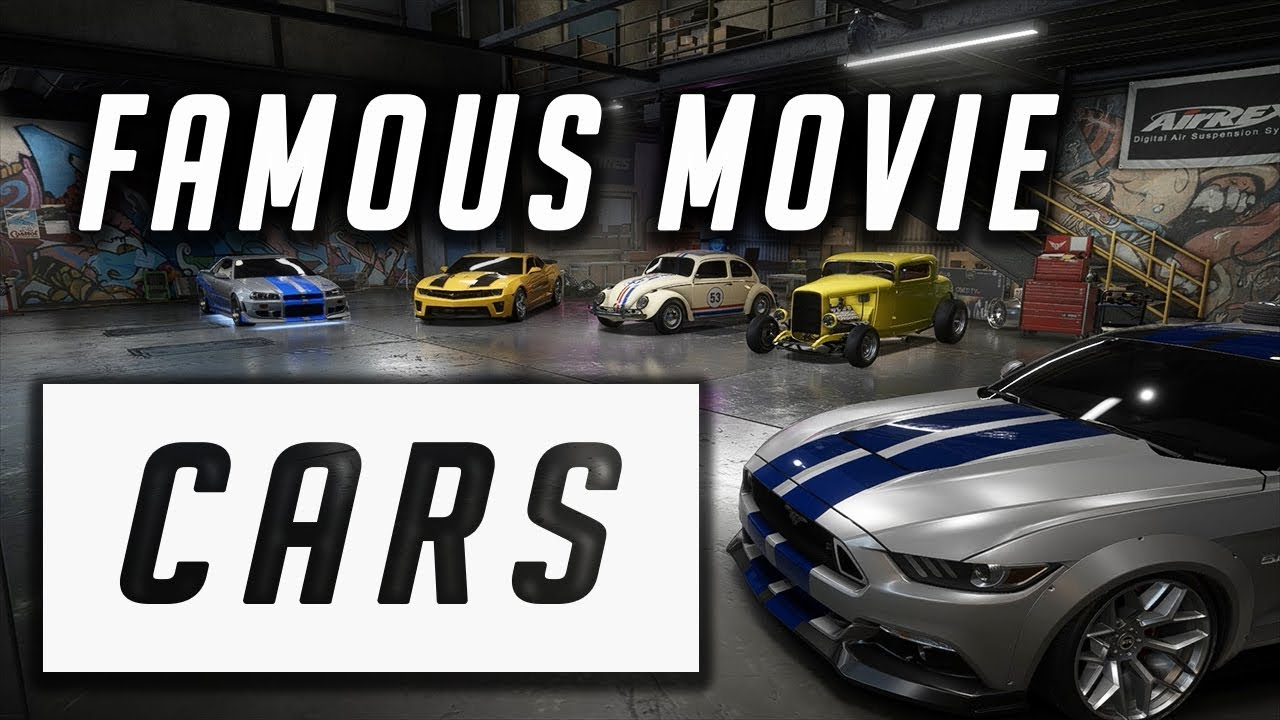 Famous Movie Cars In Need For Speed Payback 1080phd Youtube