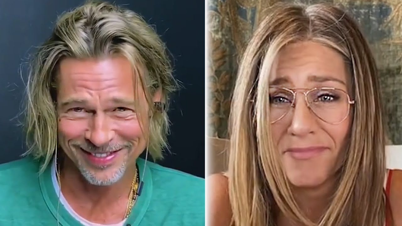 Brad Pitt & Jennifer Aniston Flirt In Virtual Table Read & TikTok Downloads Get Banned