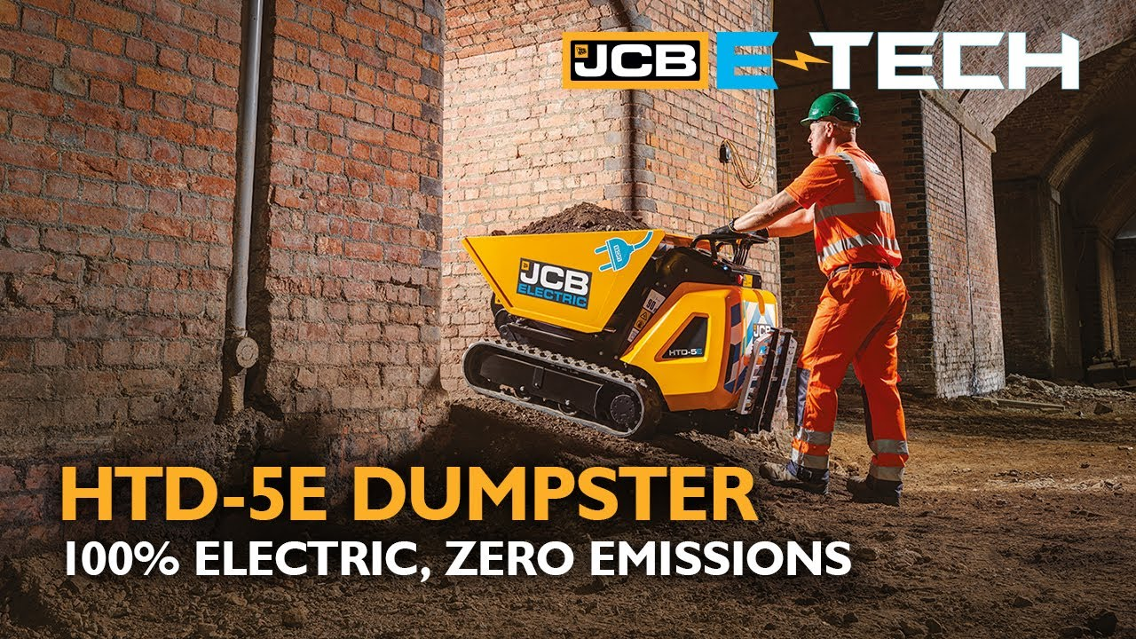 JCB HTD-5E High-Tip Dumpster - 100% Electric, Zero Emissions