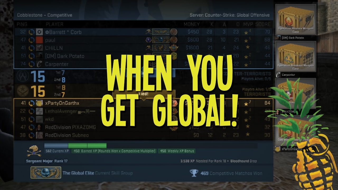 how to rank up to global elite cs go youtube