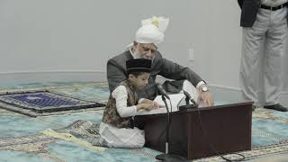 Shayaan (4yrs) Shares Affectionate Moment with Huzur (aba)