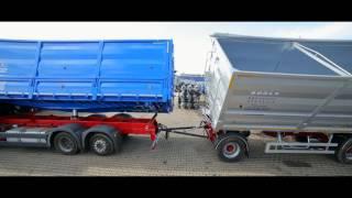 автопоезд зерновоз бодекс c 3х сторонней разгрузкой объёмом 80 м3