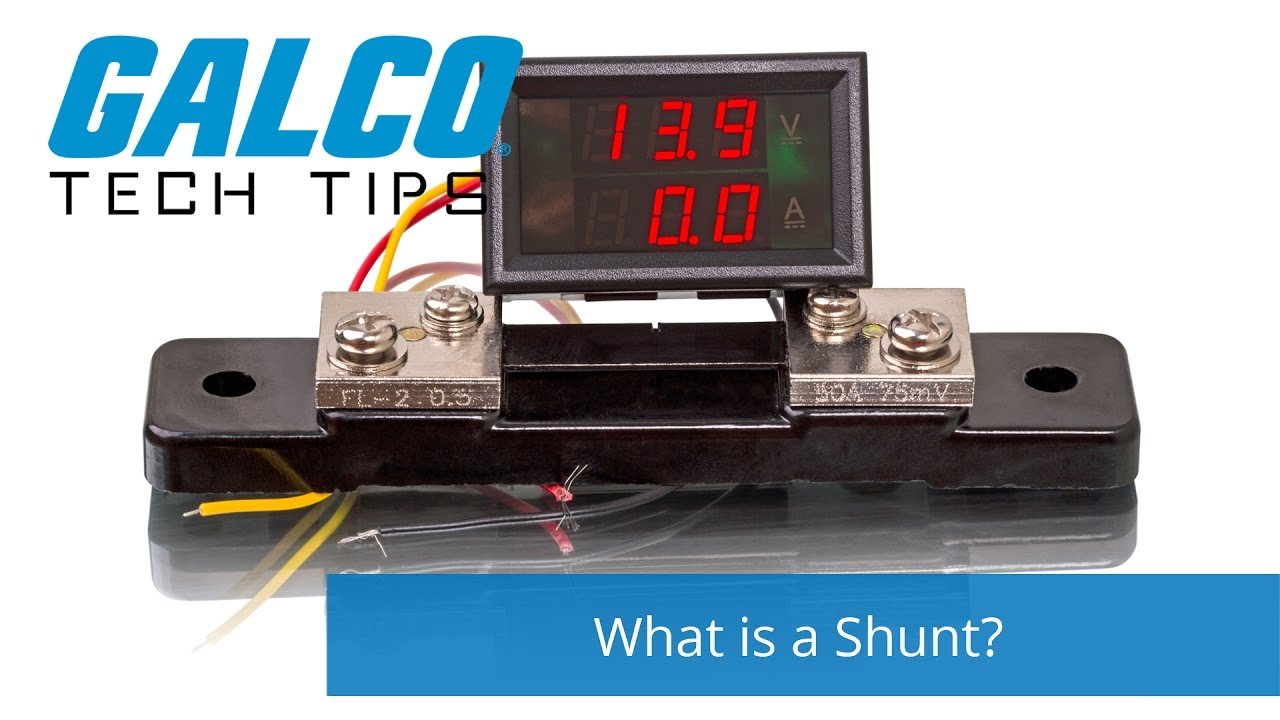What Is A Shunt  - A Galco Tv Tech Tip