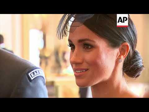 Duke and Duchess of Sussex greet guests at Buckingham Palace
