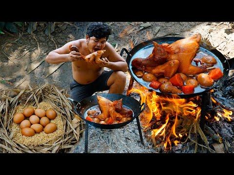 #ChickenPopEyeRecipe Cooking Chicken PopEye Recipe Coca-Cola Eggs, Peanuts Eating So Delicious