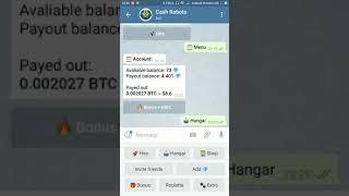(01 Bitcoin dari Telegram) Cara Bermain Cash Robot