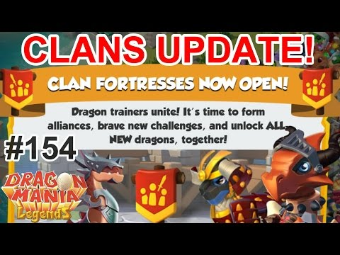 CLANS UPDATE IS OUT! Card Packs, New Dragons and Clan Rewards! - Dragon Mania Legends #154