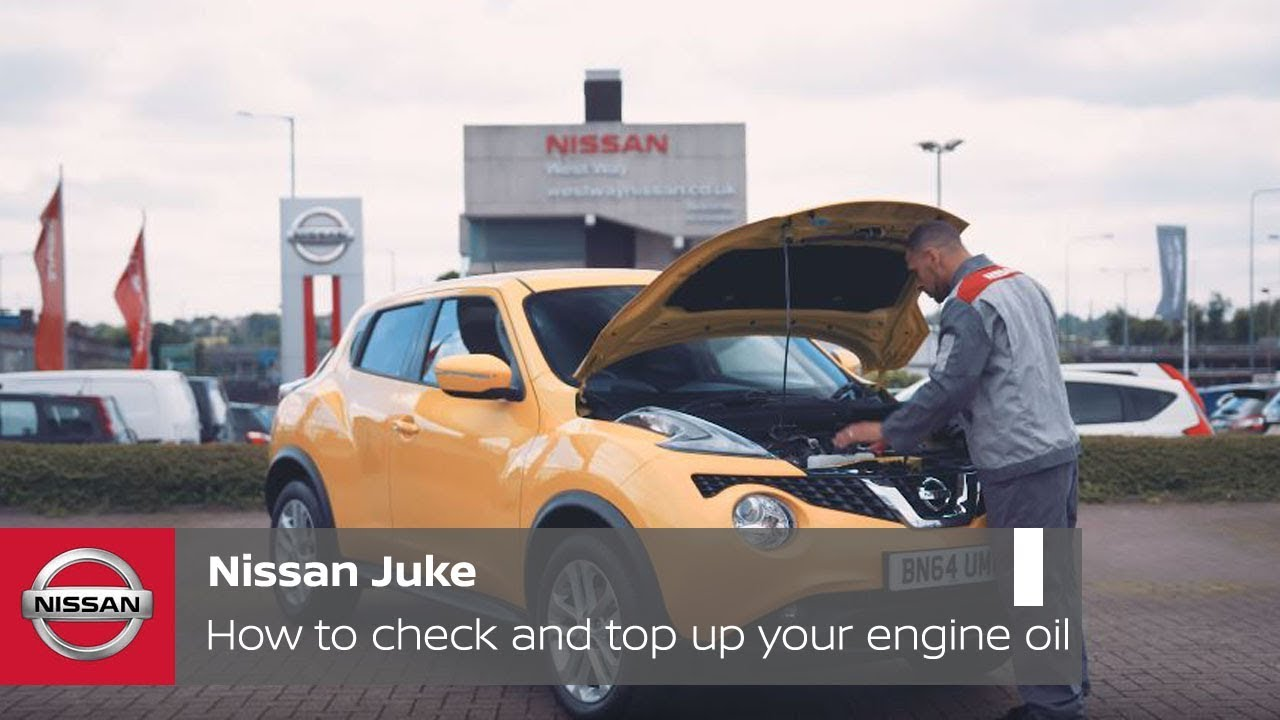 nissan juke tutorial how to check and top up your engine oil [ 1280 x 720 Pixel ]