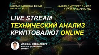 LIVE STREAM | Технический Анализ Криптовалют Online | Прогноз на BITCOIN |  Обзор криптовалют