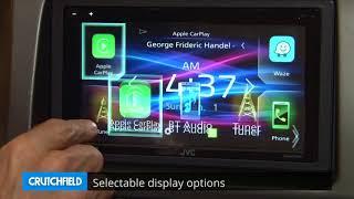 JVC KW-M740BT Display and Controls Demo | Crutchfield Video