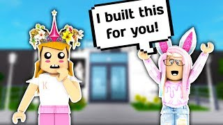 I GAVE HER MONEY AND MY PLOT AND SHE BUILT THIS FOR ME // Roblox Bloxburg // Roblox Subscriber Build