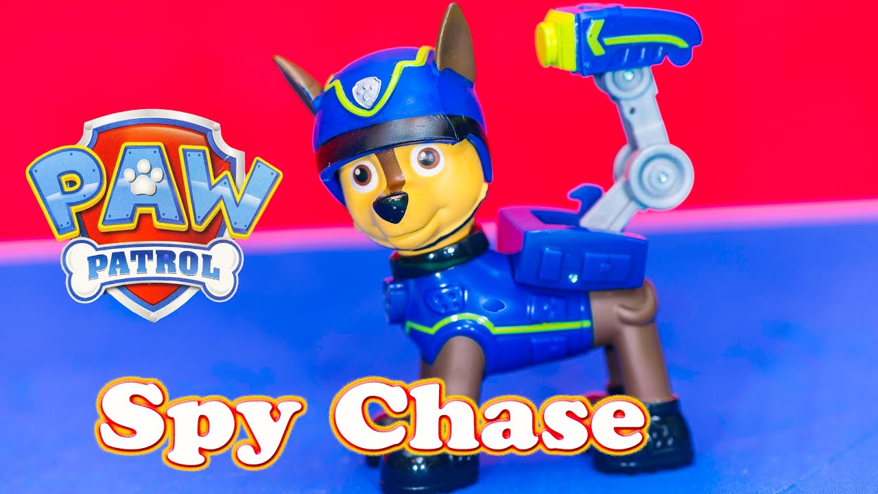 Paw Patrol Spy Chase Meet Rubble and his Jeep Funny Toy Video