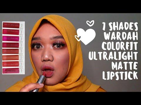 ep.2-wardah-colorfit-ultralight-matte-lipstick-  -swatch-&-review-bahasa-indonesia