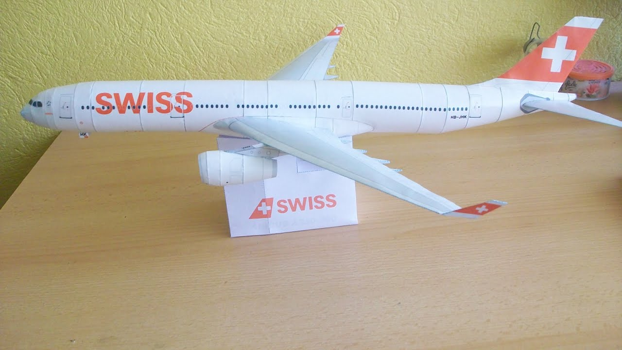 Papercraft Swiss A330 300 Papercraft