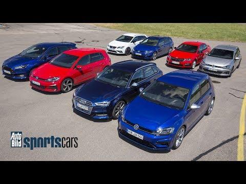 DRAGRACE: Golf vs Focus ST / Octavia RS / Cupra 300 / S3 - AUTO BILD SPORTSCARS