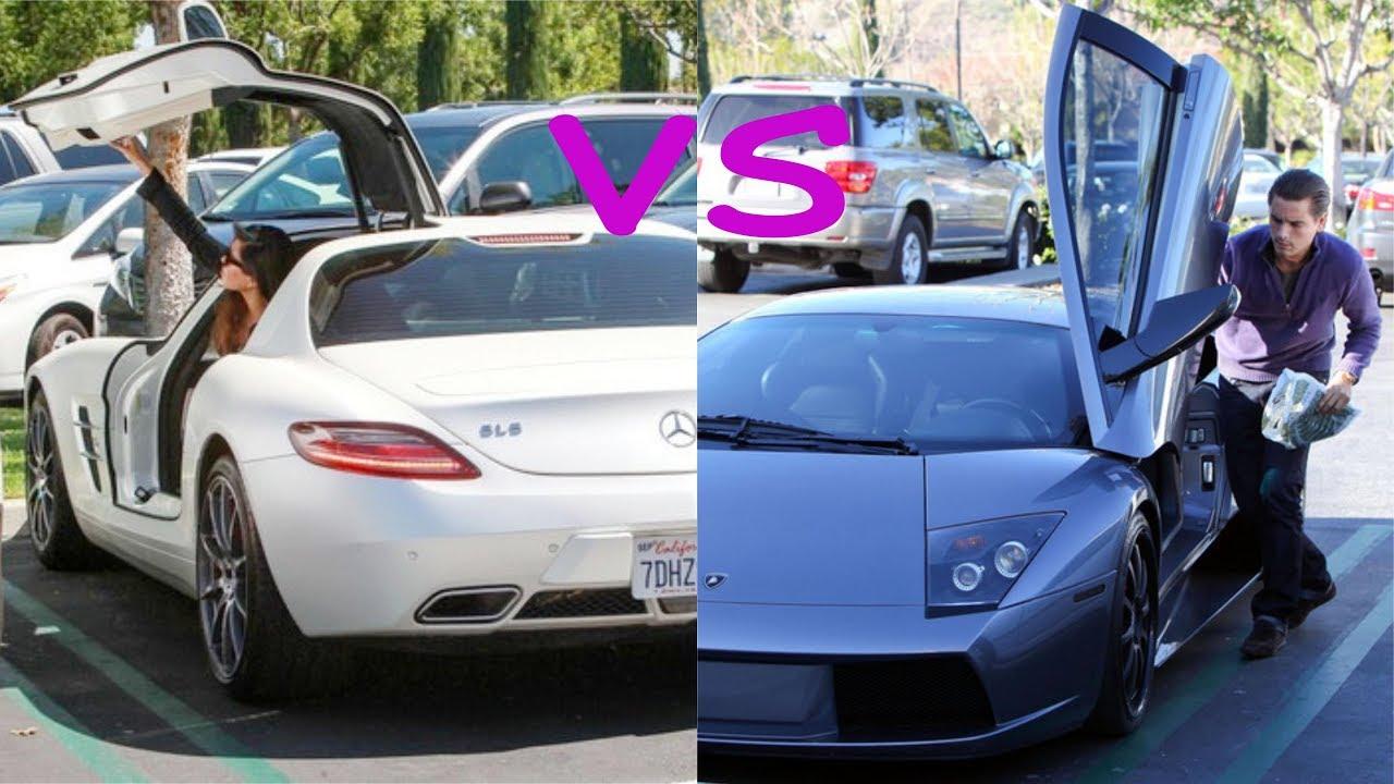 kourtney kardashian cars vs scott disick cars (2018) - youtube