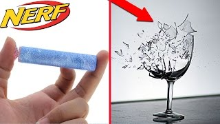 Deadly NERF GUN DART Frozen In LIQUID NITROGEN