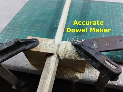 How to make Wooden Dowels - Homemade Dowel Cutter - DIY Dowel Jig