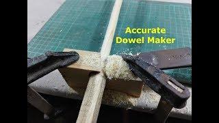 How to make Wooden Dowels - Homemade Dowel Cutter - DIY Dowel Jig