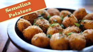 Semolina Potatoes - Easy Potato Starter / Main Course Recipe - Divine Taste With Anushruti