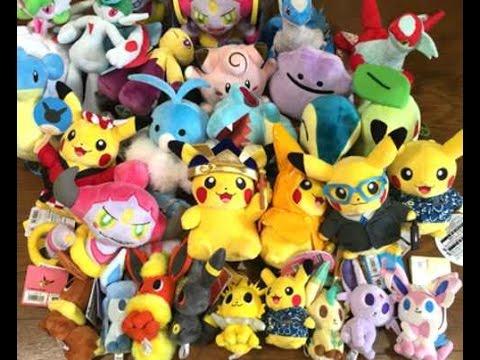 REVIEW Japanese Pokemon Secret Base Lapras Sylveon Hoopa & MORE Plush Toys