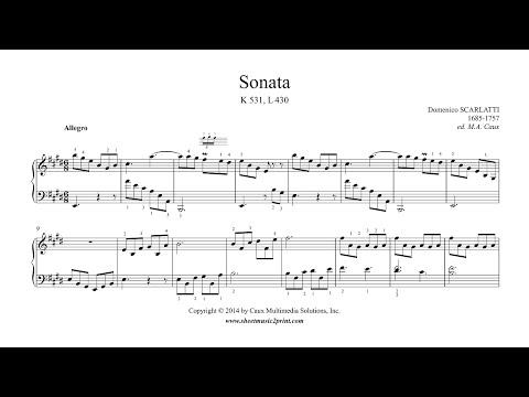 Scarlatti : Sonata in E Major, K 531, L 430