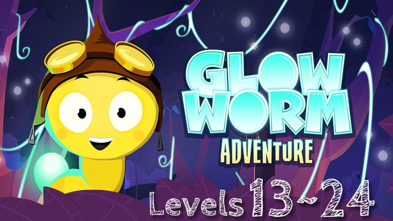Glow Worm Adventure - How to Get 3 Stars - Level 13-24 - Walkthrough ...