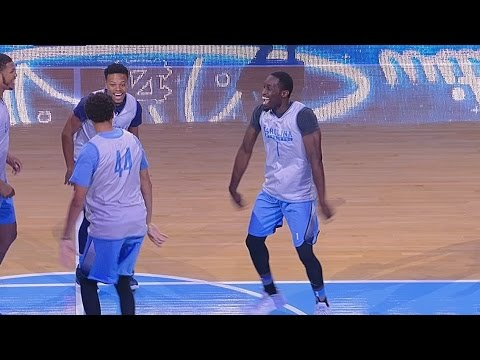 UNC Men's Basketball: Pinson & Berry Dance Off at Late Night With Roy