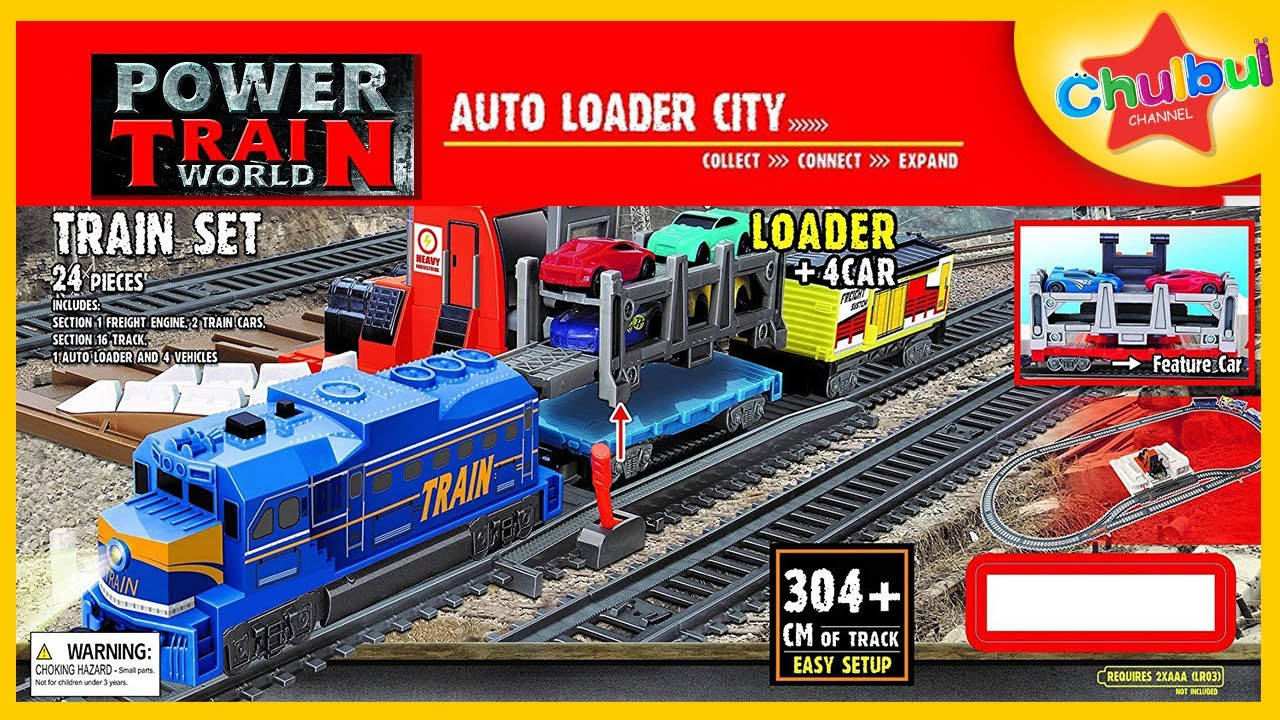 Power Train Auto Loader City & 4 Car Toys | Toy Train for Kids | Unboxing &  Review | Chulbul Channel