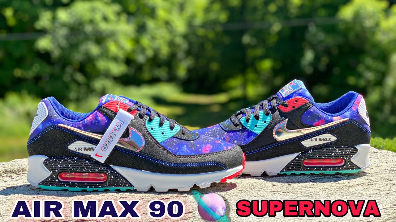 Nike Air Max 90 Space Galaxy Supernova 2020 Pack Unboxing On Feet Youtube