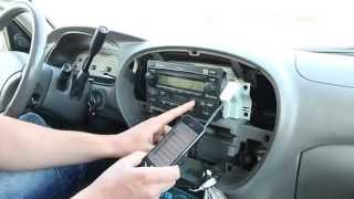 Toyota Sequoia 2001-2007 iPhone, iPod, AUX and Bluetooth adapter installation