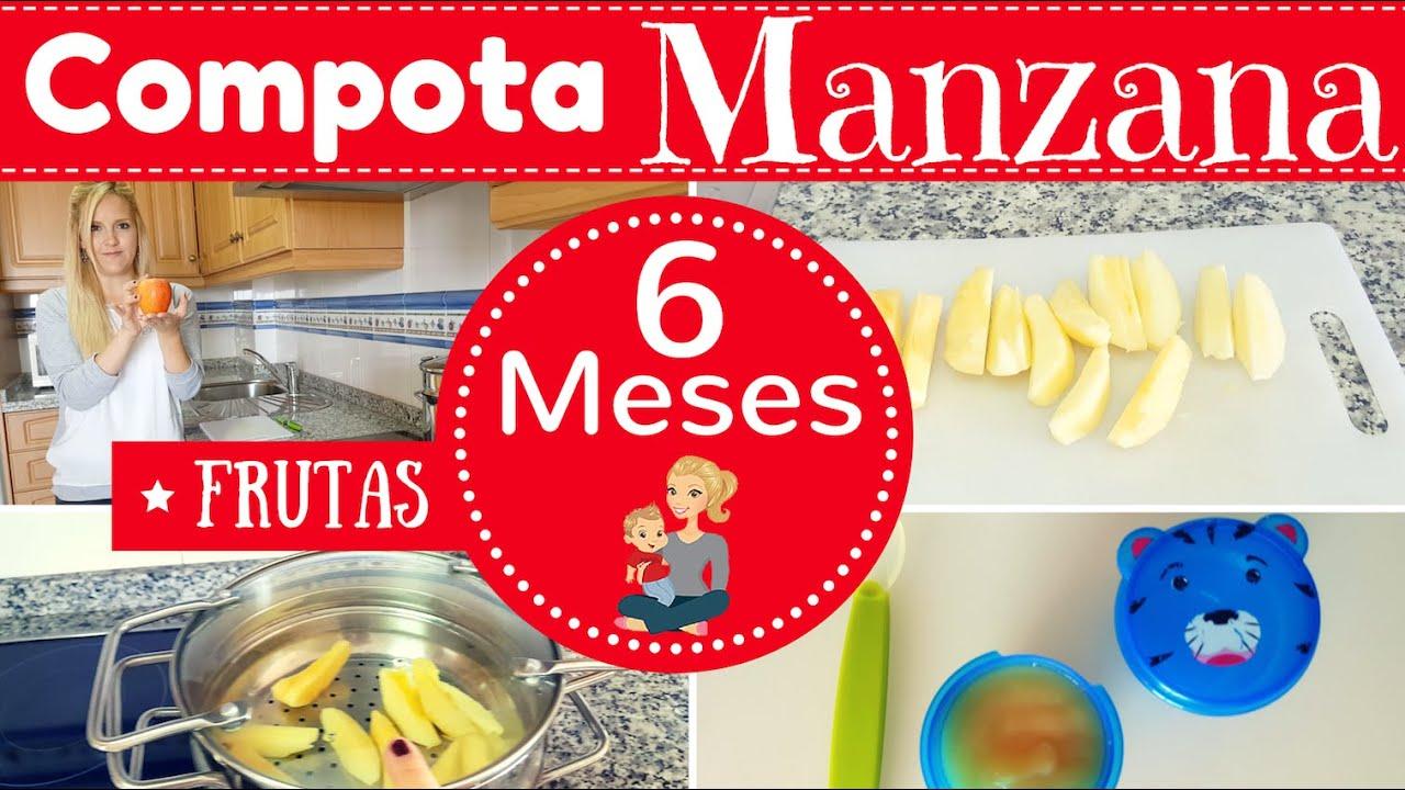 Compota de manzana para bebe de 6 meses primeras frutas de mi bebe youtube - Cereales bebe 5 meses ...