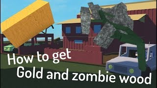 How to get gold and zombie wood in roblox lumber tycoon 2