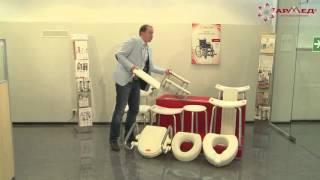 видео Приспособления для ванны для инвалидов и пожилых людей