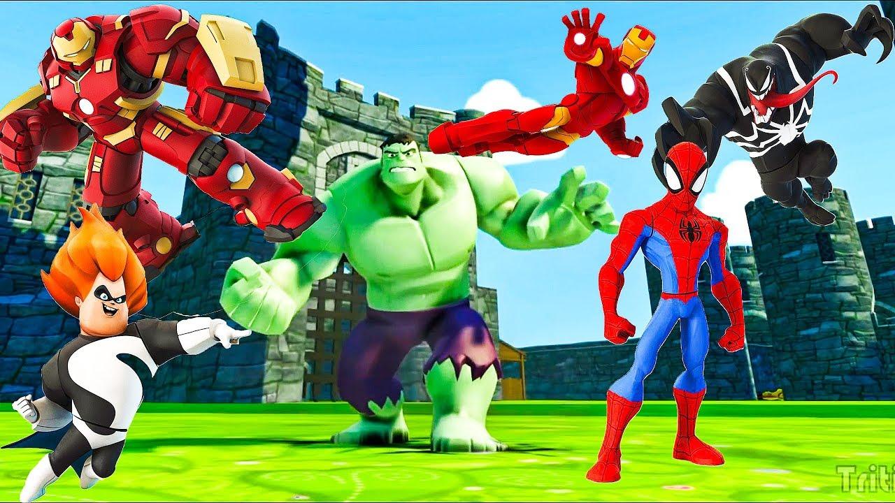 Все серии подряд Видео игра про Халк,Человек Паук,Железный ...