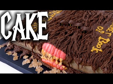 HARRY POTTER CAKE! Chocolate Monster Book Of Monsters!
