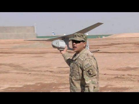 RQ-11 Raven UAV Drone - Hand Thrown Launch & Break-apart Landing.