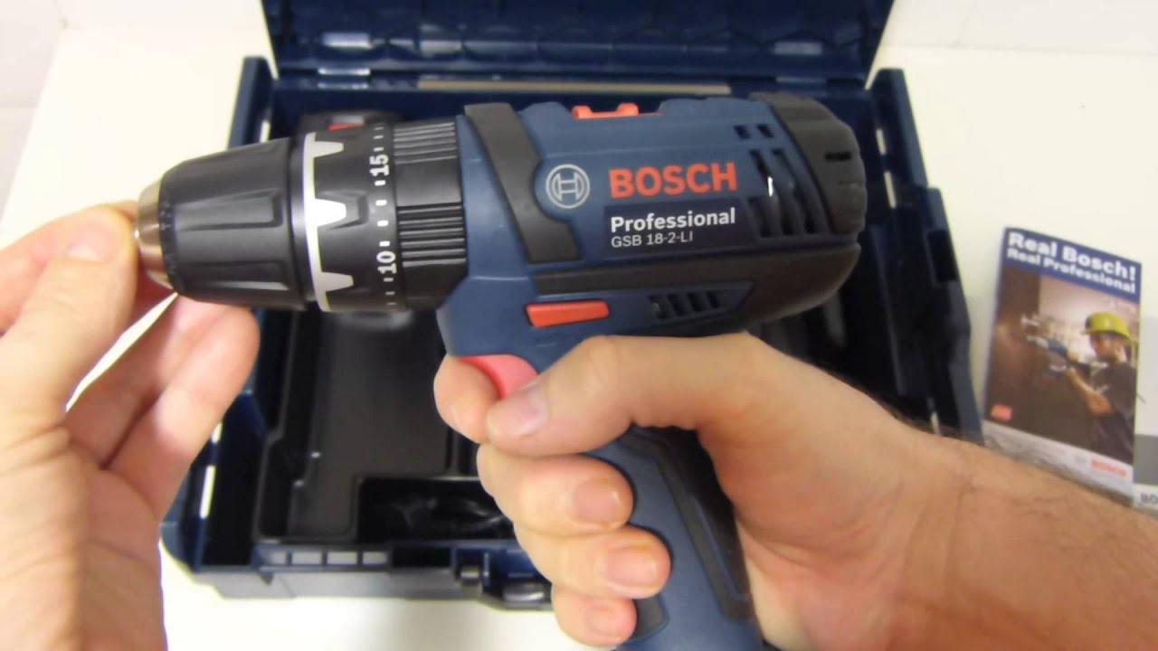 Bosch Professional GSB 18-2-Li O Taladro inal/ámbrico profesional