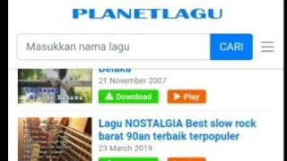 Gambar cover Cara download lagu mp3 di planet lagu