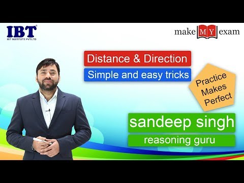 Distance & Direction - Reasoning Tricks For SSC | Bank PO | Clerk