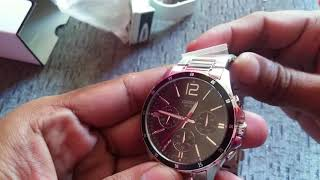 Original Menz Casio watch MTP 1374D 1AVDF unboxing review