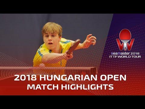 2018 Hungarian Open Highlights: Achanta Sharath Kamal vs Truls Moregard (Pre)
